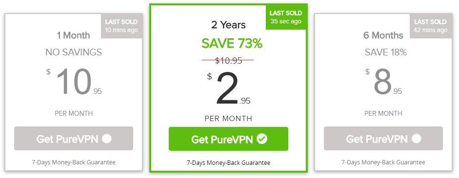 PureVPN Preis